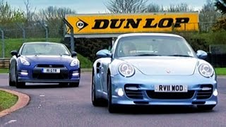 Nissan GTR vs Porsche 911 Turbo S - Fifth Gear