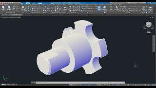 3d моделирование машиностроительной детали фиксатора в AutoCAD 2017