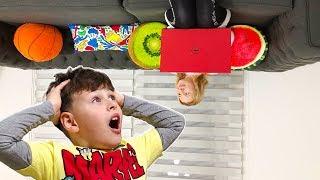 ALİ'NİN TERS GÜNÜ! PARANORMAL EV! Funny Day Kids Pretend Playtime