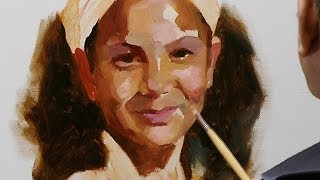 How to paint a portrait in oil paint. Short summary.