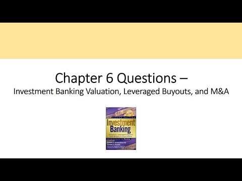 CH 6 Questions - Sell-Side M&A, Investment Banking Valuation Rosenbaum