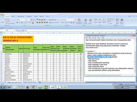 Belajar Microsoft Excel : Conditional Formating