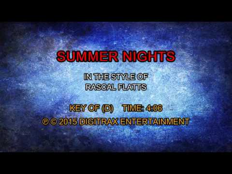 Rascal Flatts - Summer Nights (Backing Track)