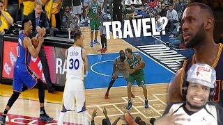 WTF LEBRON'S NEVER TRAVELED BEFORE? NBA UNCALLED TRAVELS COMPILATION REACTION! thumbnail