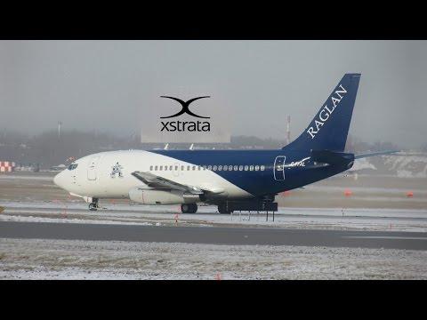Xstrata Canada/ Nickel (Raglan mine) 737-2R8C (B732) landing & departing YUL