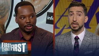 Lakers could be title contenders with D'Angelo Russell - Nick Wright | NBA | FIRST THINGS FIRST