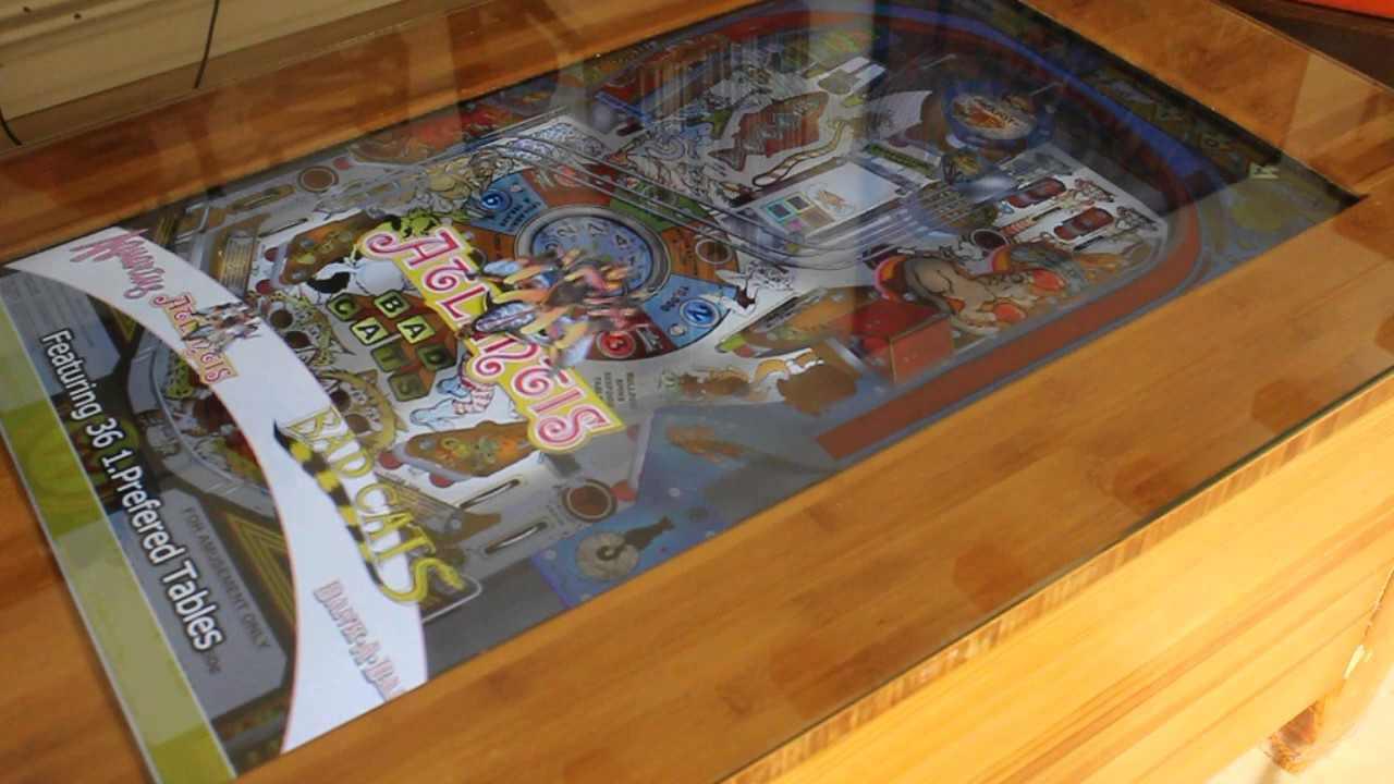 Virtual Pinball Coffee Table