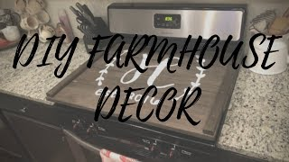DIY STOVE TOP COVER | RUSTIC FARMHOUSE DECOR