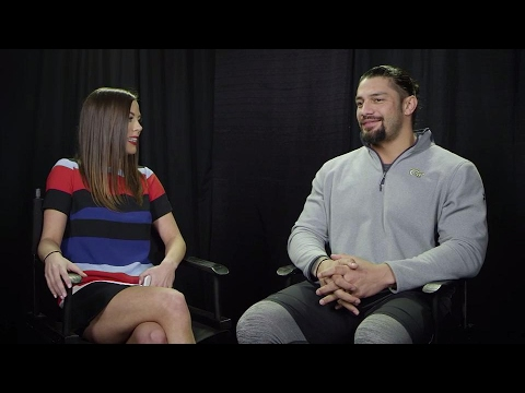 Jackie Redmond oneonone with the Big Dog Roman Reigns