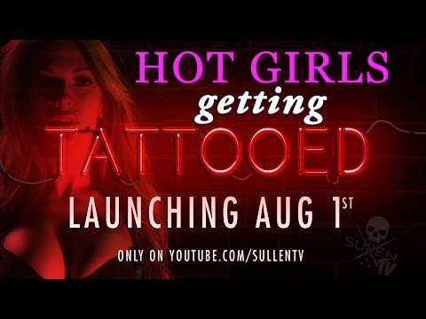 Hot Girls Getting Tattooed