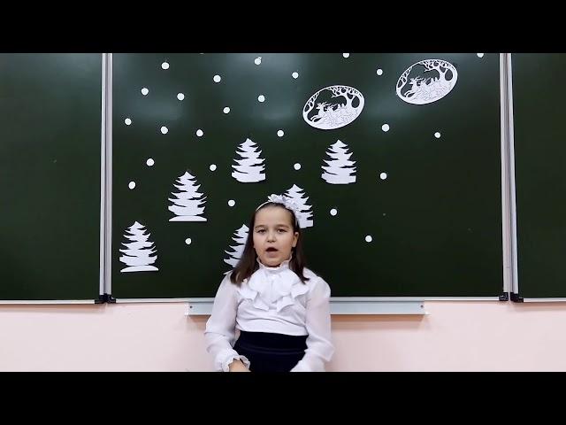 Изображение предпросмотра прочтения – СофияКузьмина читает произведение «Чародейкою Зимою…» Ф.И.Тютчева