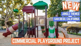 New Jungle Themes Playground Installation in San Diego California