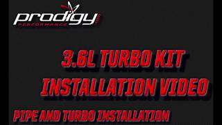 3.6L Jeep Turbo Kit Installation - Pipes and Turbo install   Prodigy Performance