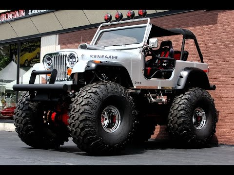 1986 jeep cj 7 on rockwells with 49 inch iroc tires youtube. Black Bedroom Furniture Sets. Home Design Ideas