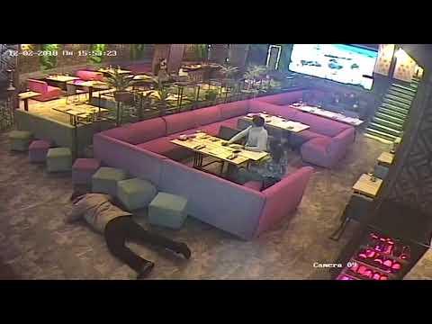 Задержание Саакашвили. Видео с камер киевского ресторана