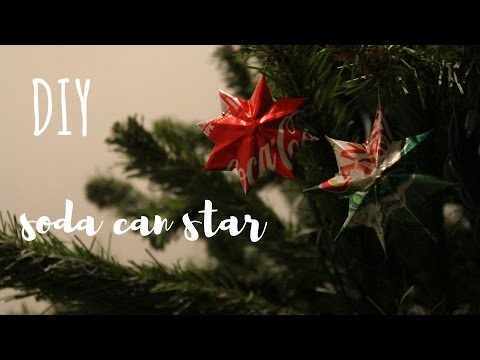 DIY Aluminum Star Ornament | Recycle Soda Can
