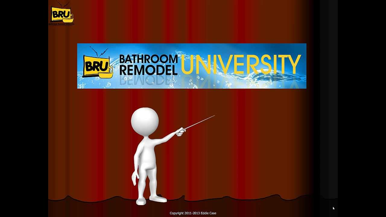 Bathroom Remodeling University bathroom remodeling university training system - youtube