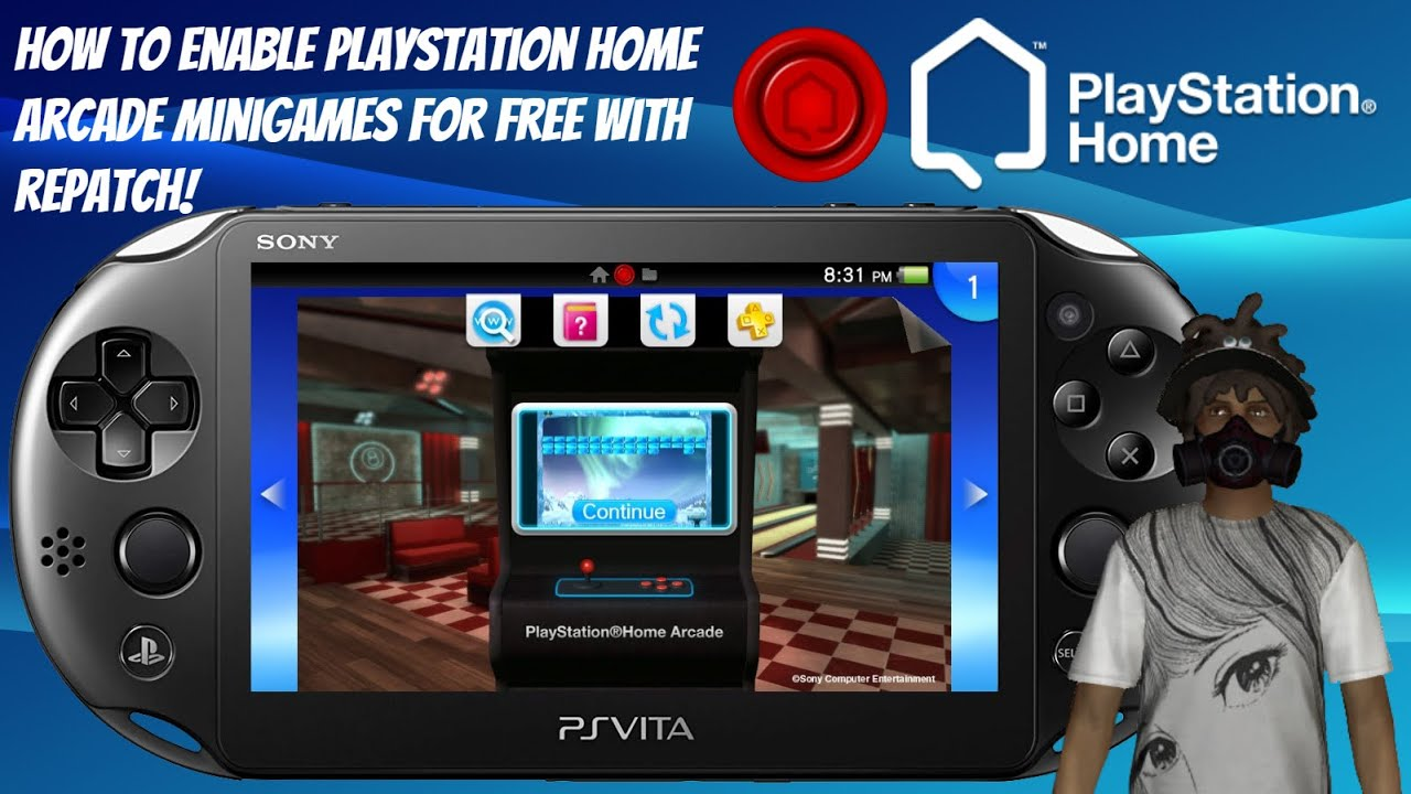 How To Enable Playstation Home Arcade Minigames For Free With Repatch Playstationhome Henkaku Youtube