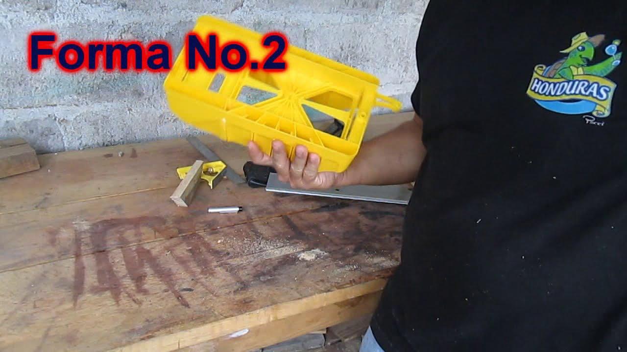 3 formas de realizar el corte 45 sin ser carpintero - YouTube