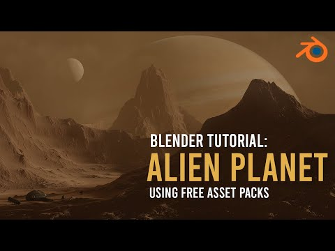 Create An Alien Landscape In 5 Minutes - Blender 2.8 Tutorial