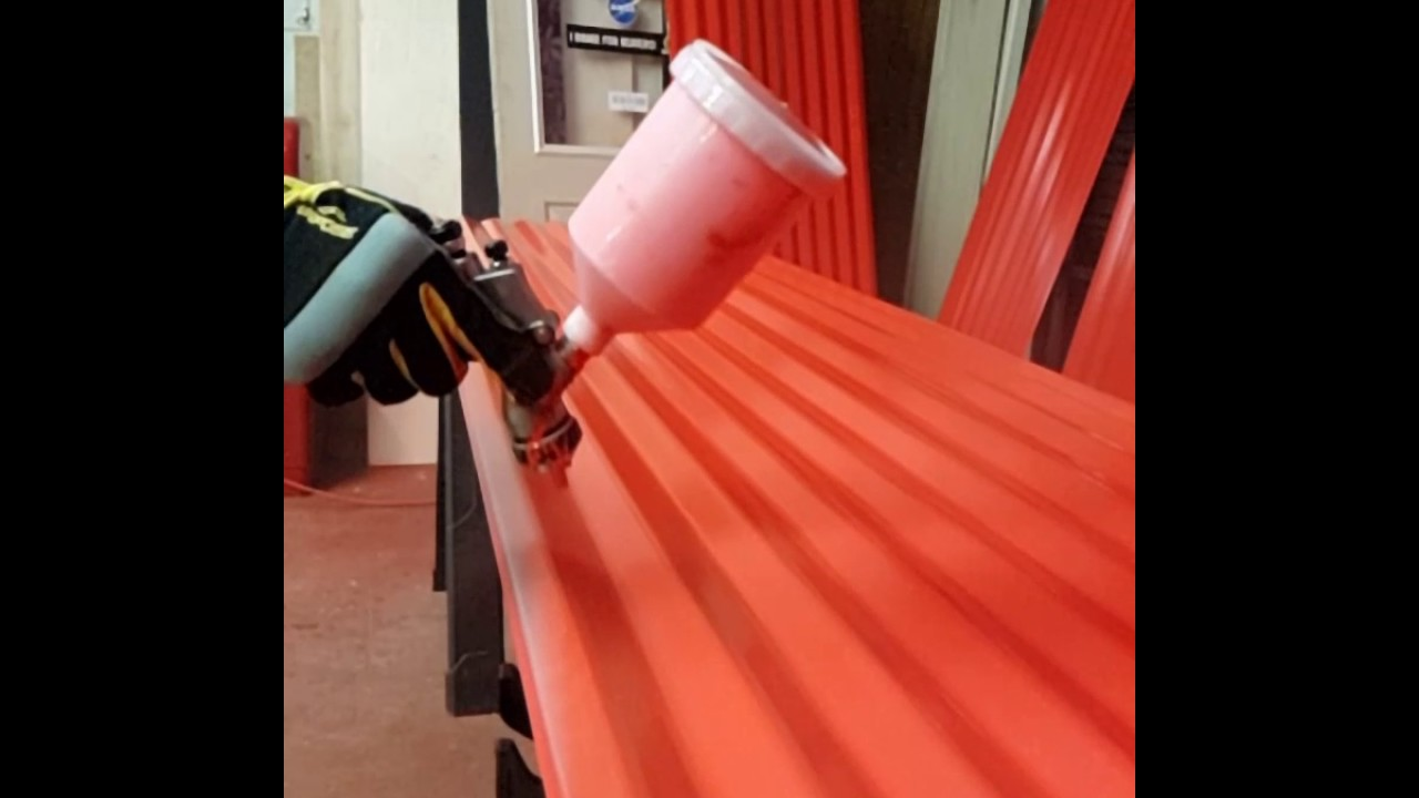 Spraying Oil Based Paint
