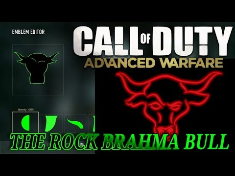 Call Of Duty Black Ops 3 Paintshop The Rock Brahma Bull Emblem