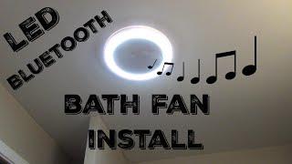 bath fan installation home networks led bath fan with bluetooth speaker