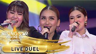 Nella x Ayu x Via [BOJO GALAK, JARAN GOYANG, PIKIR KERI] | Live Duel | Rising Star Indonesia Dangdut