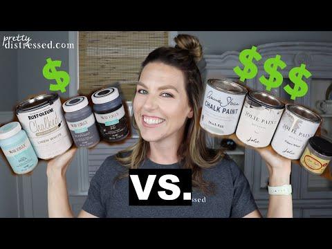 Chalk Paint Bargain V. Premium Brands |  Waverly, Rustoleum V. Annie Sloan, Dixie Belle, Jolie