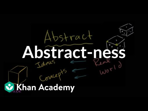 Abstract-ness | Introduction To Algebra | Algebra I | Khan Academy