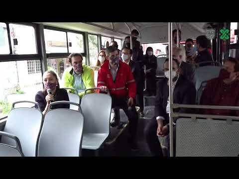 Presentación de la primera unidad eléctrica de Metrobús