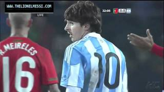 Thats the only way Ronaldo can stop Messi !!! Argentina vs Portugal friendly match