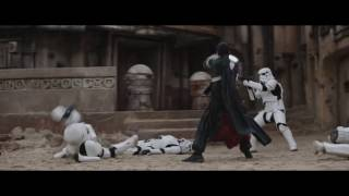 "Rogue One: A Star Wars Story - Clip: ""Chirrut Fights Stormtroopers"""