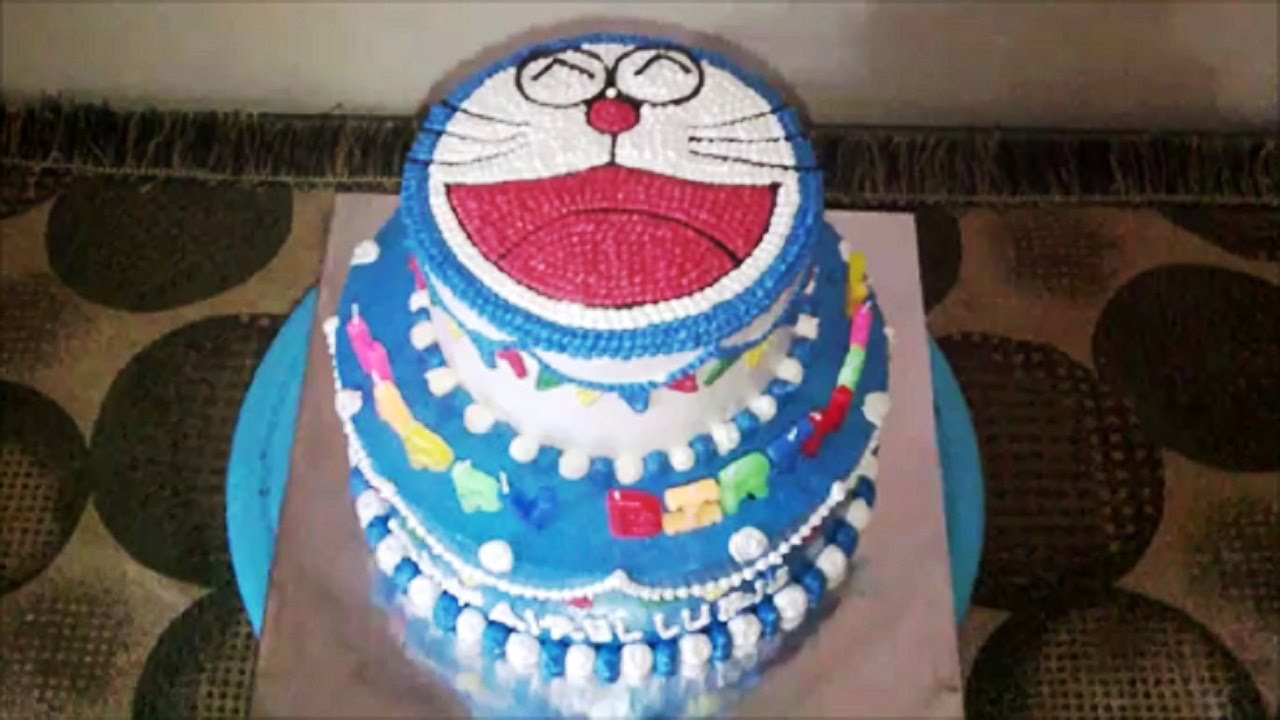 How To Make Doraemon Cake 2 Tier Youtube
