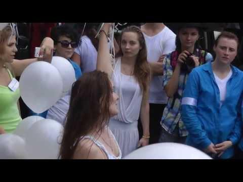 Запуск шаров в День Памяти Майкла Джексона. Новинский б-р. 25 июня 2013