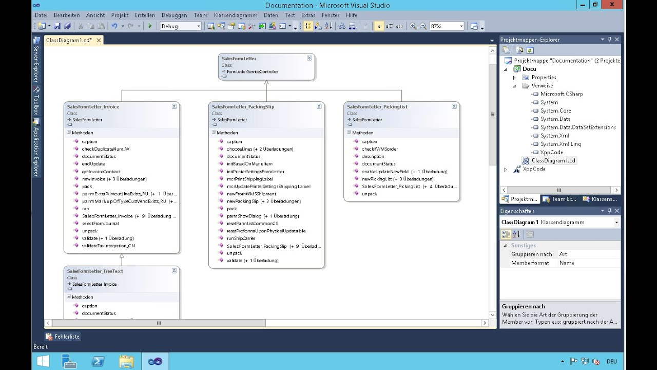 visual studio database project diagram steel phase dynamics ax 2012 class in youtube