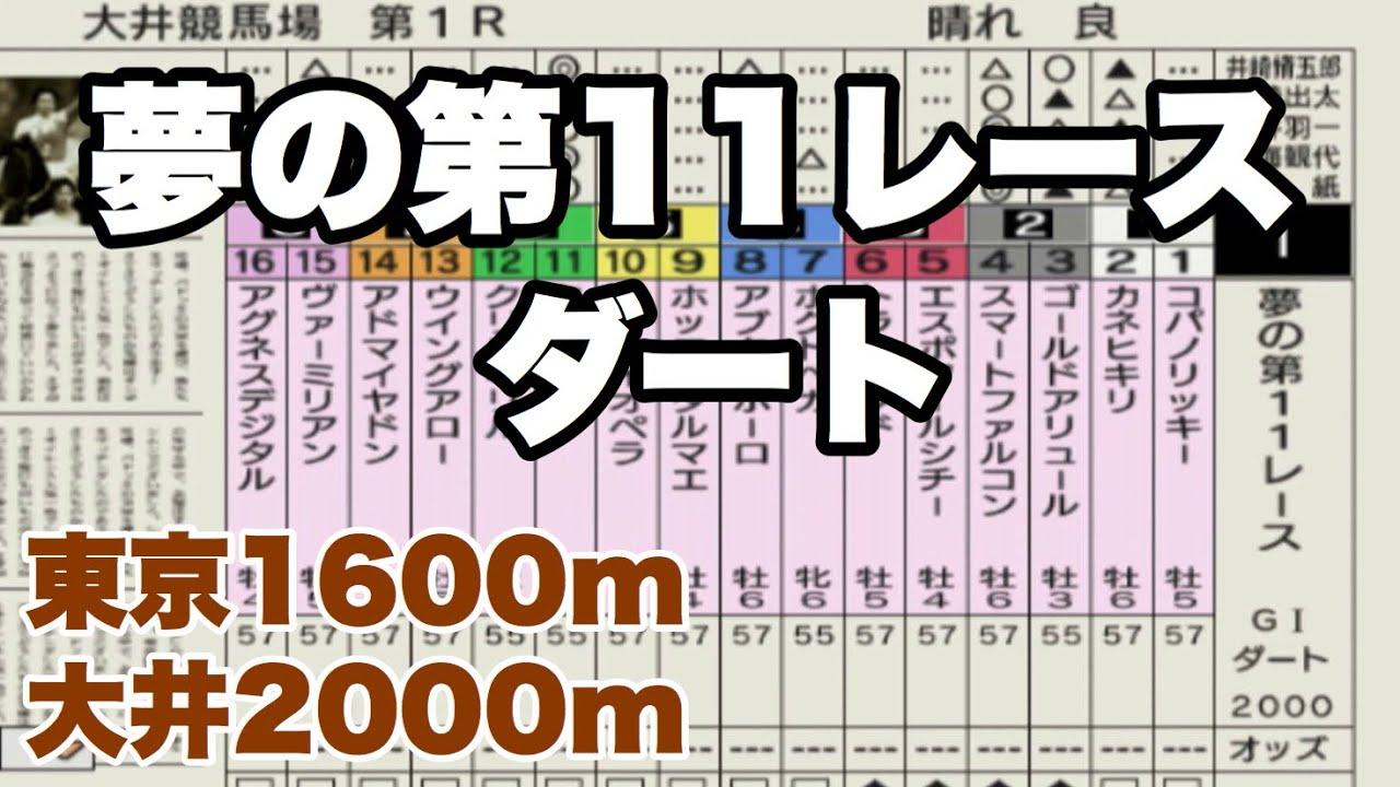【競馬】ダートの名馬たちで夢の第11レースを再現。