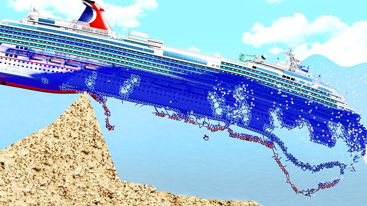 This Is What Happens When A Cruise Ship Runs Aground Floating Sandbox Youtube