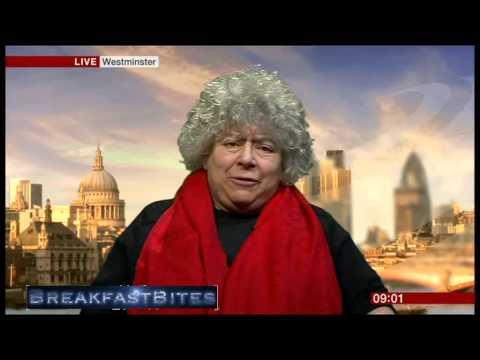 Miriam Margolyes pokes fun at Steven Thrush's name (Breakfast, 3.2.14)