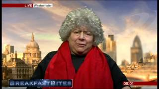 Miriam Margolyes pokes fun at Steven Thrush's name (Breakfast, 3.2.14)