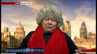 Miriam Margolyes pokes fun at Steven Thrush