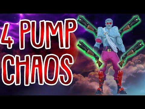 QUAD PUMPGUN CHAOS! | 4 Pump Challenge | Fortnite Battle Royale