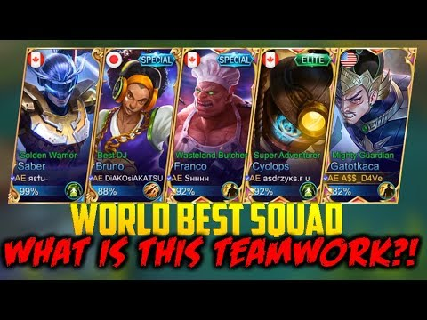 WORLD BEST TEAM COMPOSITION – HOW TO TEAMWORK! MOBILE LEGENDS GATOT KACA GL RANKED GAMEPLAY