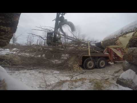 Time lapse chipping logs in Minnesota.