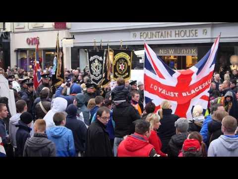 Belfast City Hall Union Flag Protest - November 30th 2013