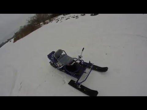 Испытание нового снегохода ХАСКИ
