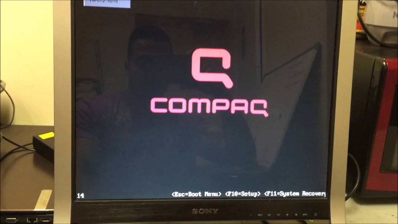 resetting compaq laptop to factory settings