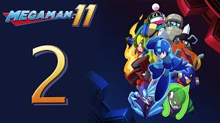 Mega Man 11 Kicks DSP's BUTT! The Playthrough pt2 - Blast, Block, Torch and Tundra Man Stages!