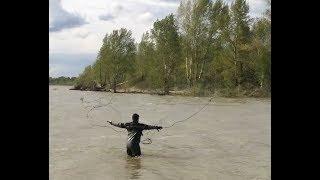 рыбалка на Оби Кастинговой сетью 6м диаметром!