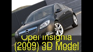 3D Model of Opel Insignia (2009) Review